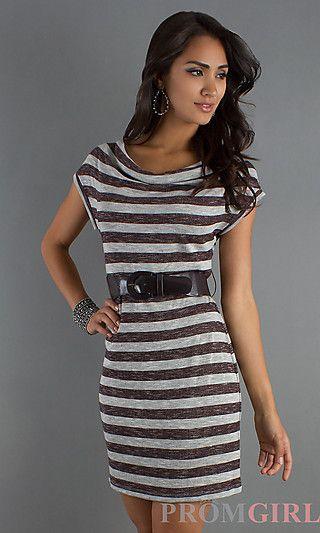 Short Scoop Neck Dress at PromGirl.com