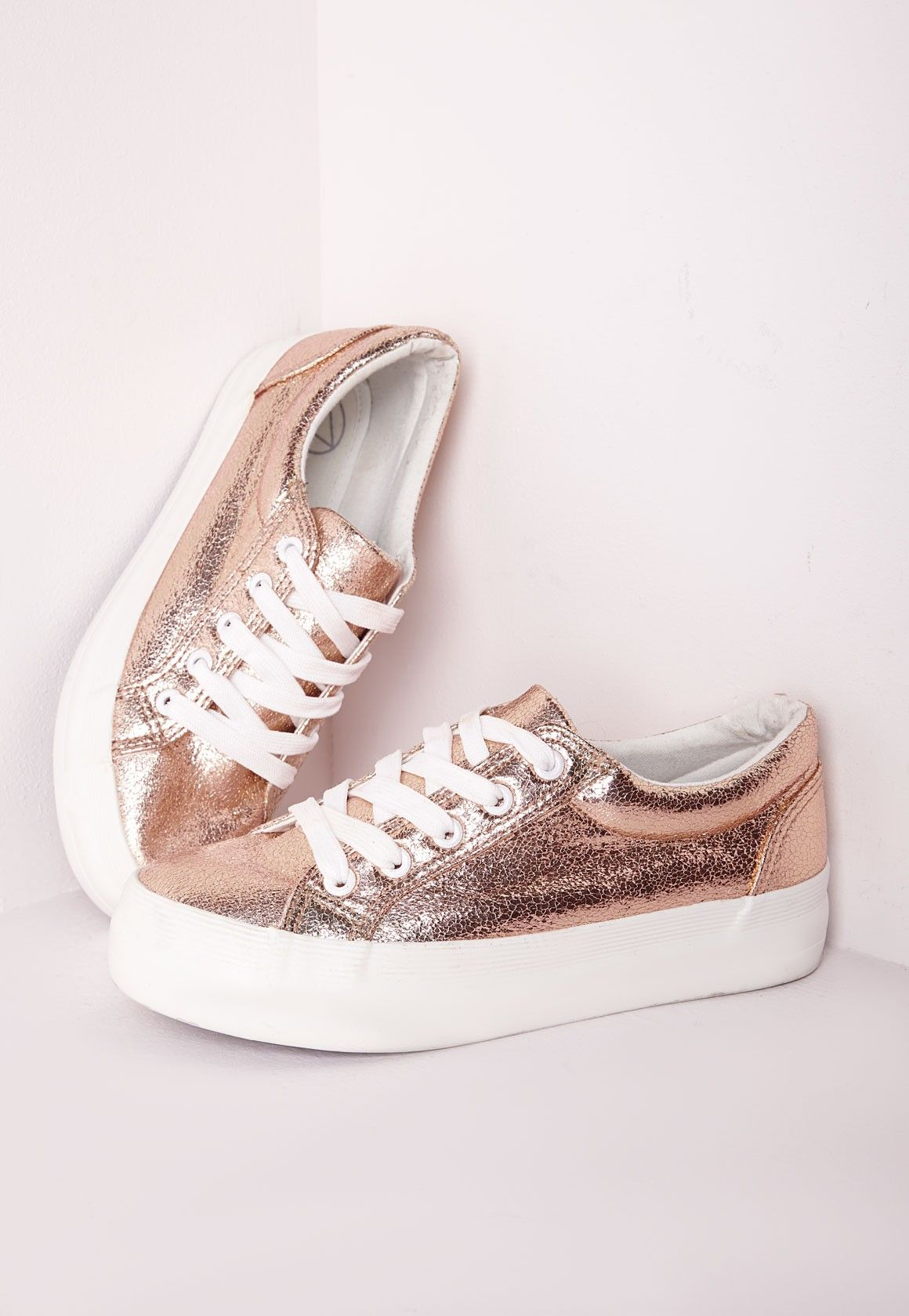 Chaussures Flat Or Metallic Pumps Rose Platform qAY8R1