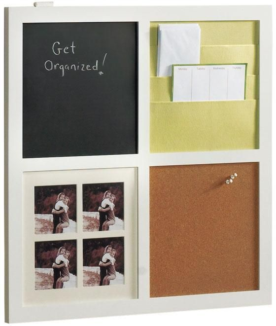 Mail Holder Chalkboard Picture Frames And Cork Board