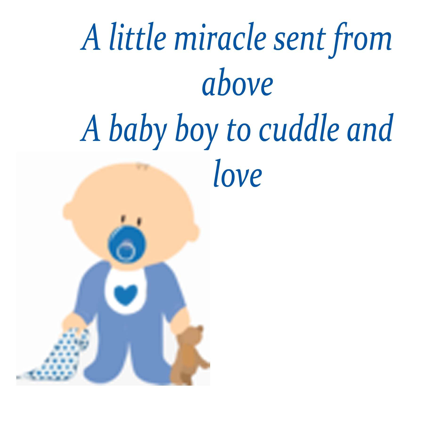 Miracle Baby Quotes: Boys Baby Shower Poems And Quotes. QuotesGram