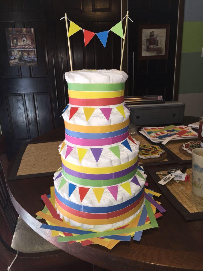Philippine barrio fiesta diaper cake Fiesta cake, Cake