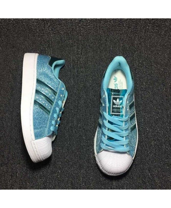 Glitter Skyblue Womens Shoes This Adidas Superstar sports OnwkNPXZ80