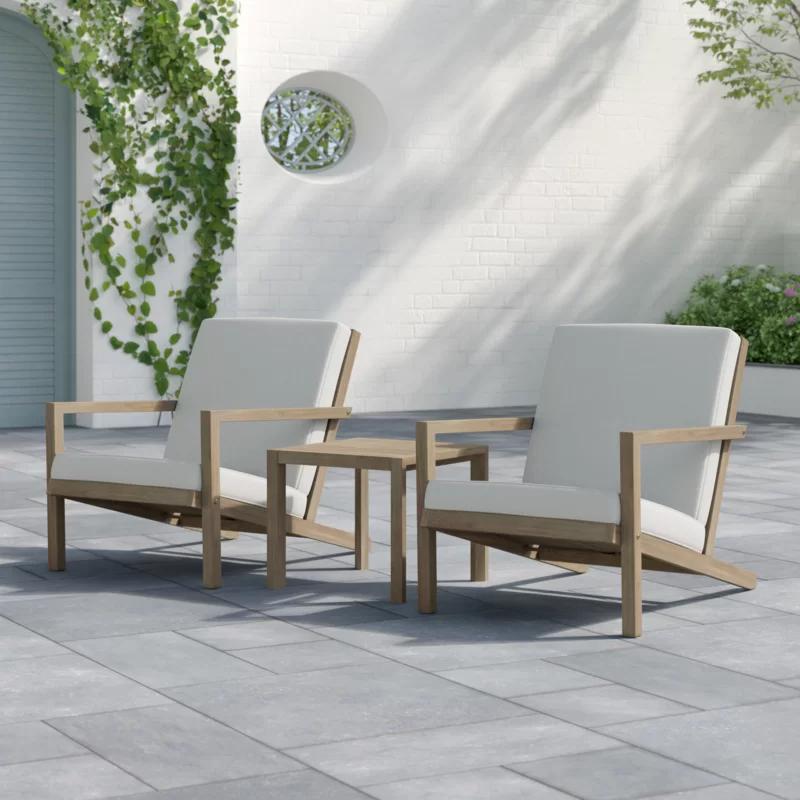 Gillian 3 Piece Seating Group With Cushions Teak Patio Furniture Backyard Furniture Outdoor Sofa