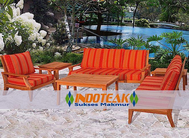 Teak Deep Seating Sets With Sunbrella Cushions Outdoor