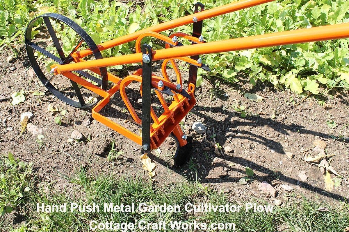 Hand Push All Metal Garden Cultivator Flip Tines To Row Maker Garden Cultivator City Farming Garden