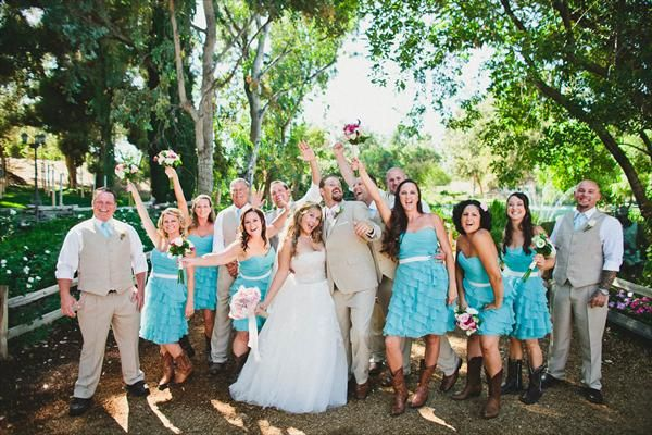 Country Style Bridesmaid Dresses   Fun Summer Country Wedding   The Knot