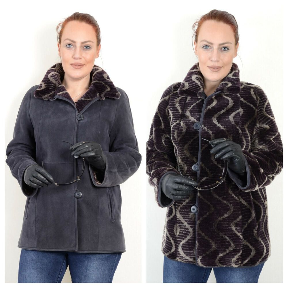 US1684 REAL WOMEN REVERSIBLE SHEARLING SHEEPSKIN JACKET