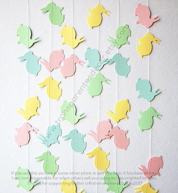 Ostern Hase Girlande, Osterschmuck, Frühling Garland, Häschen Girlande, Ostern Hase banner, Banner Ostern, Ostern Dekor, KAB-4007