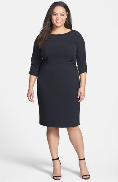 943e51adcd4 Adrianna Papell Side Ruched Crepe Sheath Dress (Plus Size) available at   Nordstrom