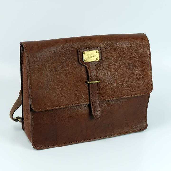 Etsy Leather Bag Personalized Satchel Messenger