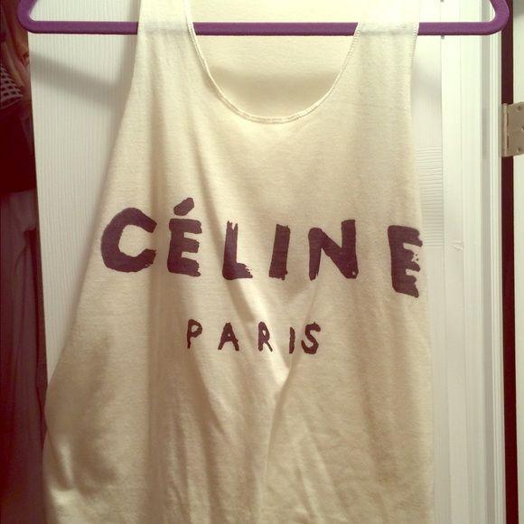 Celine Paris tank Celine Paris graphic tank. Tops Tank Tops