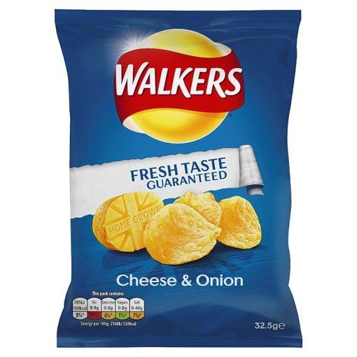 Walkers Cheese and Onion Crisps 32.5g (Case of 48) for only £23.50.