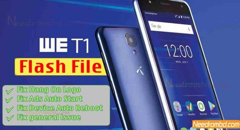 We T1 MT6737 Flash File Without Password | Smartphone Firmware