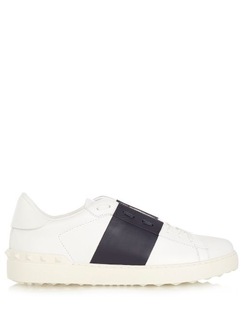 9249e3682112 VALENTINO Open bi-colour low-top leather trainers.  valentino  shoes   sneakers