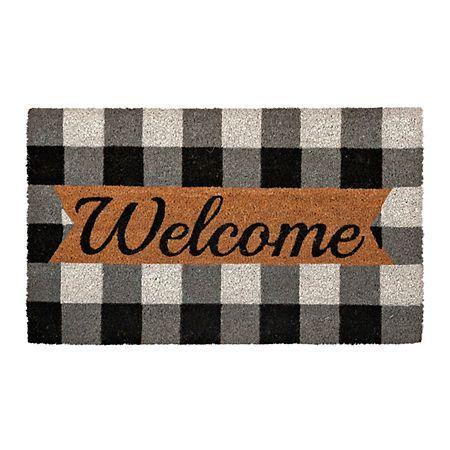 Black And White Buffalo Check Welcome Mat Kirklands