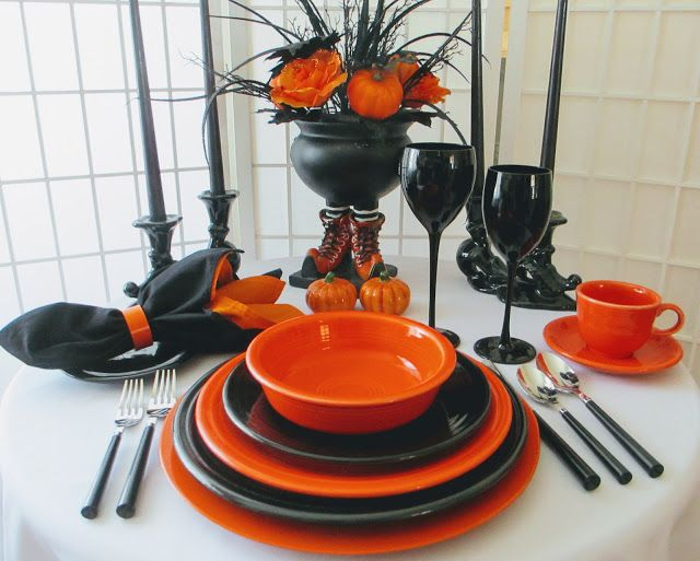 The inspiration for this week\u0027s table is the Halloween centerpiece - halloween centerpiece