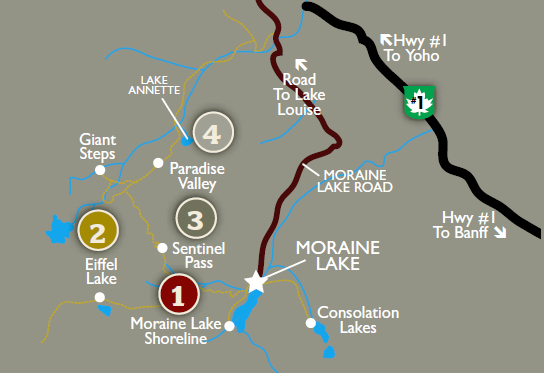 Moraine Lake Trail Map Canada Hiking Moraine Lake Trail Map   So excited to hike lots this