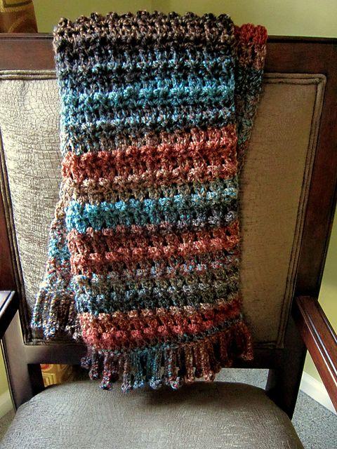 "No bobble ""Bobble"" scarf #crochet pattern"