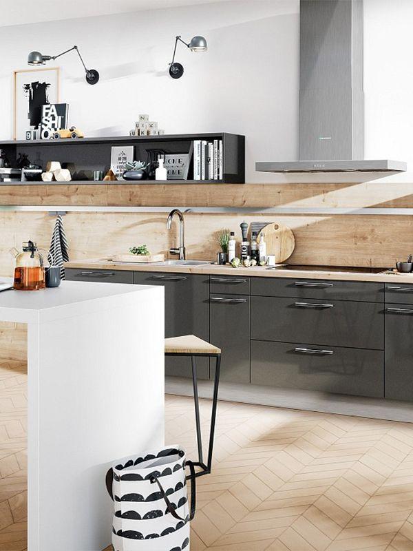 Eine graue Küche ist eine super Alternative zur klassischen Variante