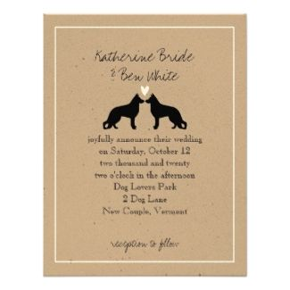German Shepherd Wedding Invitations And Accessories