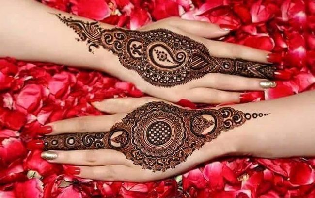 Bridal Mehndi Ideas : Back hand henna bridal mehndi ideas for christmas fashion