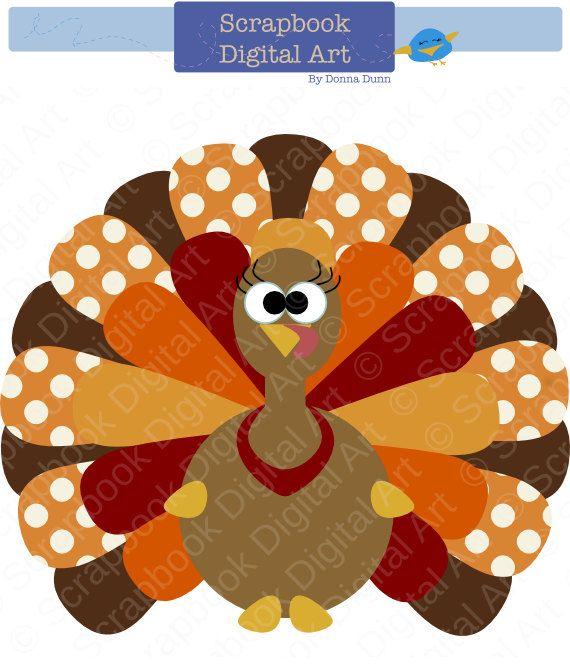 colorful turkey digital clip art thanksgiving turkey turkey clip
