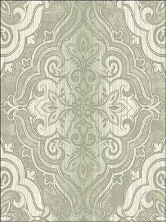 gray faded damask wallpaper