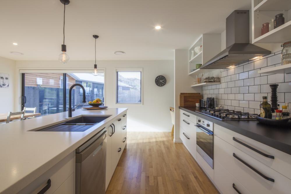 White Kitchen Wooden Floors | Kitchen Plans, Kitchen Design, White ...