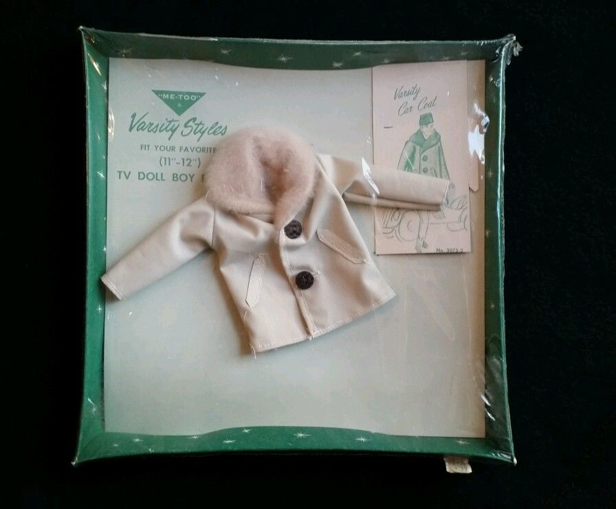 "Vintage Original 1960's ""Me Too"" Ken Doll Varsity Car Coat Clone w Tags 