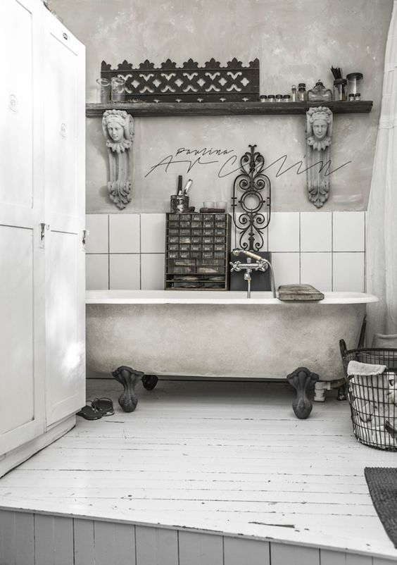 Brocante badkamer | Bathtub | Pinterest | Shabby, Brocante and ...