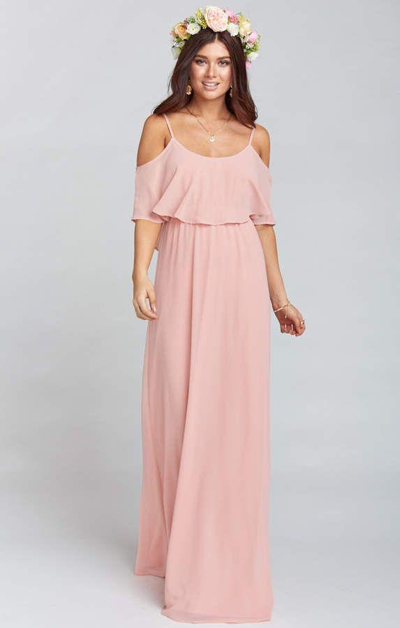 ae47f74deae Show Me Your Mumu Caitlin Ruffle Maxi Dress ~ Rosebud Chiffon