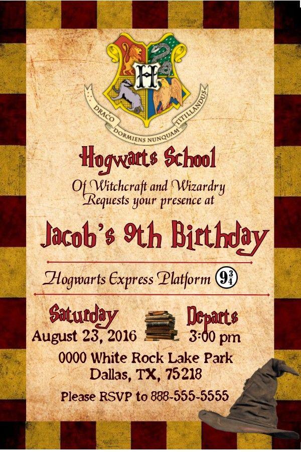 Harry Potter Birthday Invitation Invitation with Photo
