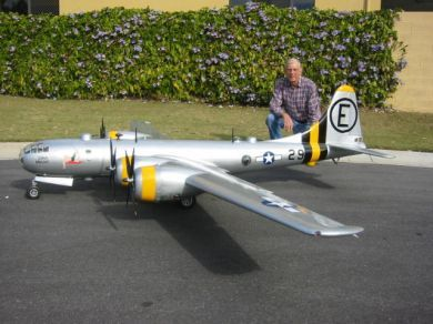 gas powered rc warbirds | Lionel Weeks and his magnificent