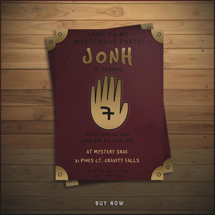 Gravity Falls Invitation Awesome Gravity Falls Invitation