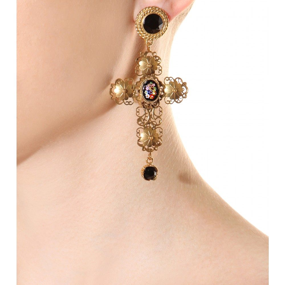 mytheresa.com - Gold-plated clip-on earrings - jewelry - accessories - Luxury Fashion for Women / Designer clothing, shoes, bags