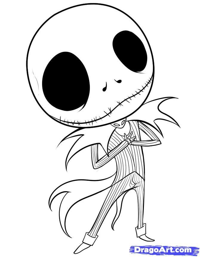 Jack The Pumpkin King Coloring Pages Colouring Jack Disney