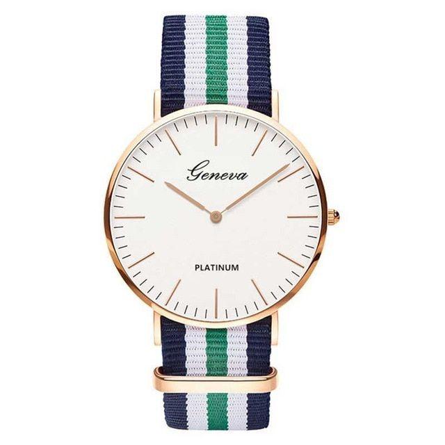 Quartz Fabric Ladies Wrist Watch