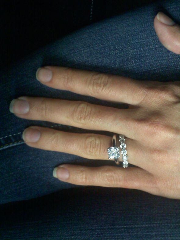 Engagement Ring Photo With Stones On The Band 23 Cushion Cut