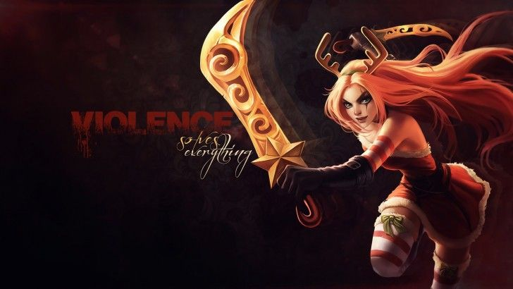 Christmas Girl Katarina Lol S7 League Of Legends League
