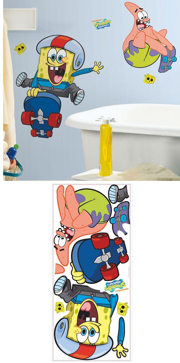 Spongebob Squarepants Skaters Wall Decals SALE Wall Sticker - Spongebob wall decals