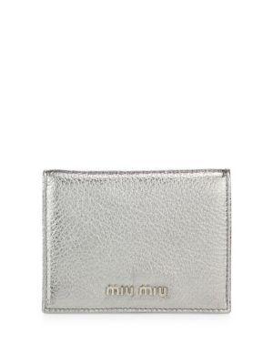 Logo Madras Miu Bi-fold Wallet Miu Miu 3nzRblU7