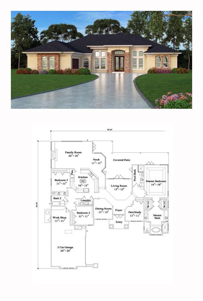 Tuscan Style House Plan 63376 With 4 Bed 3 Bath 2 Car Garage Tuscan House Tuscan House Plans House Plan Gallery