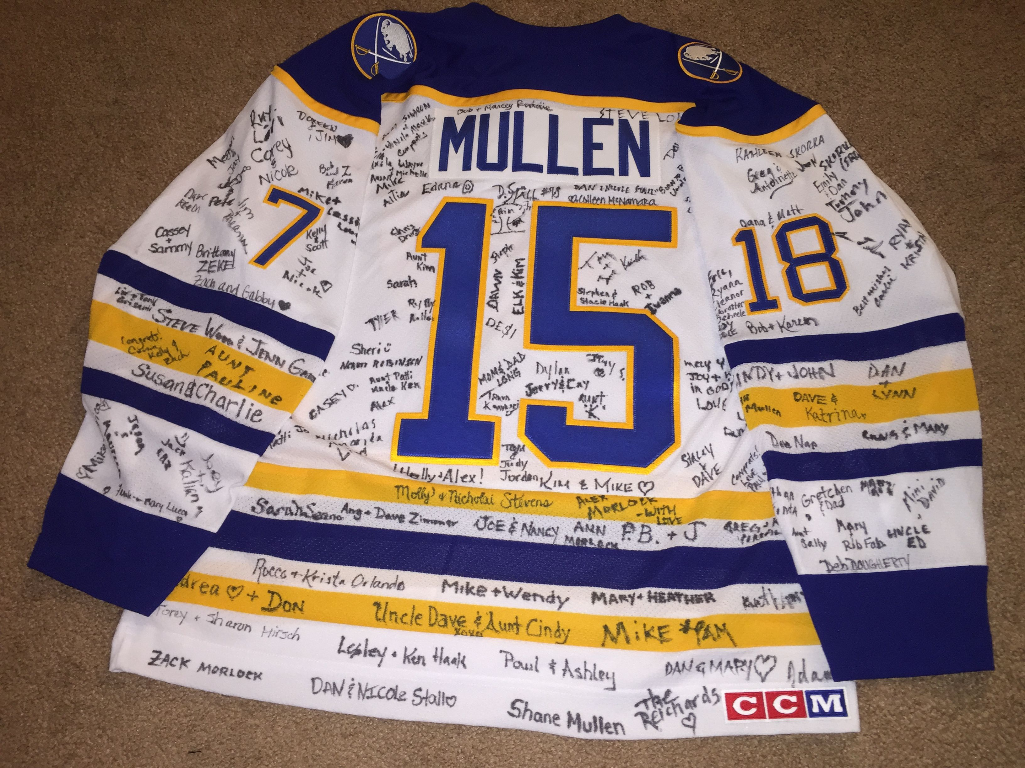 This Was Our Wedding Guest Book Buffalo Sabres Hockey Jersey Signed By All