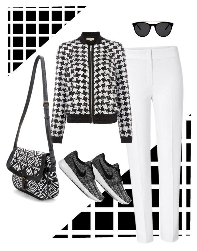 """""""Hustle"""" by rosemary-hmjs on Polyvore featuring ESCADA, Michael Kors, NIKE and Smoke & Mirrors"""
