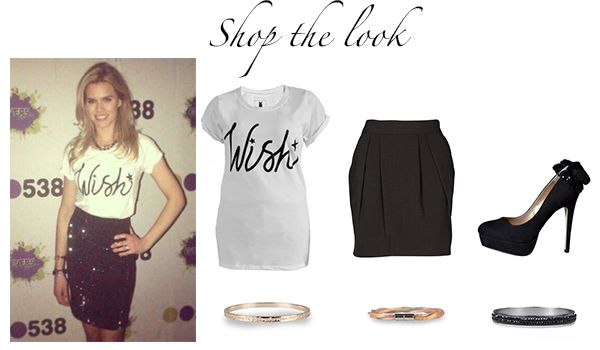 Shop The Look Inspired By Nicolette Van Dam Wish T Shirt Blake