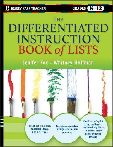 The Differentiated Instruction Book Of Lists Products Pinterest