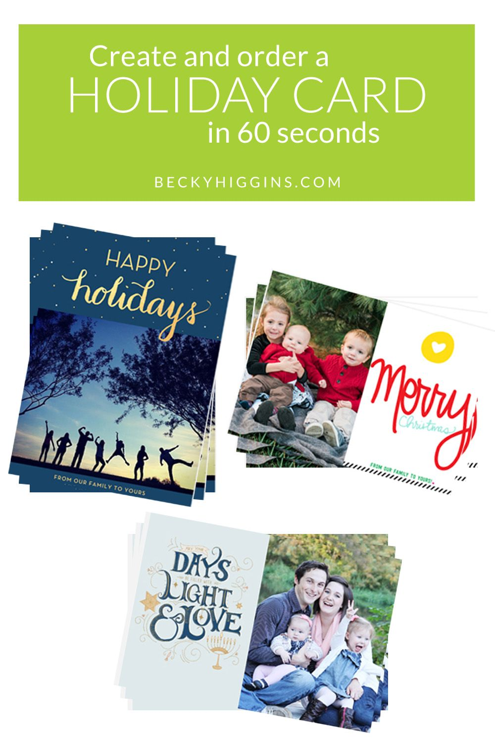 The Project Life App Lets You Create And Order A Holiday Card In