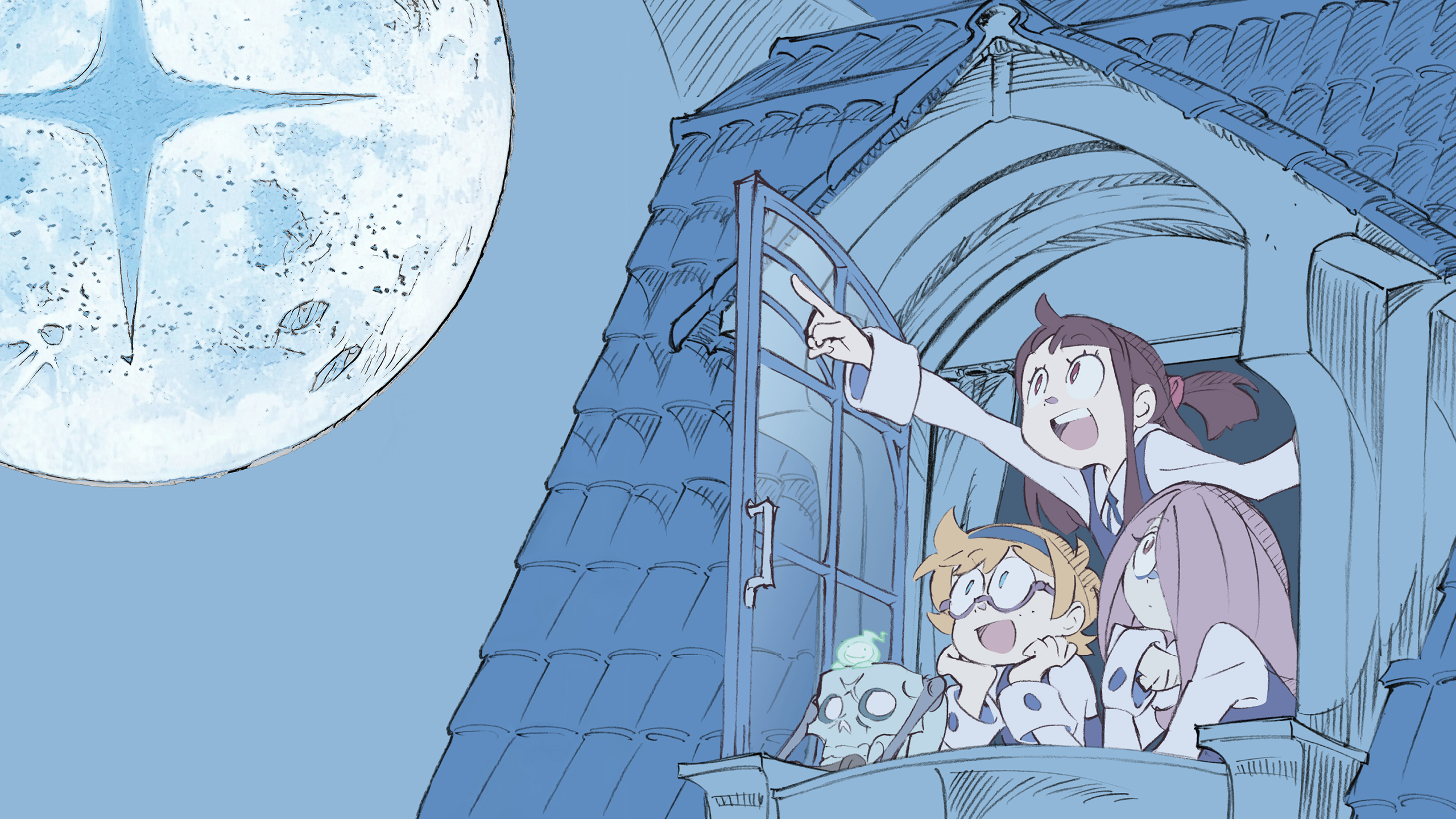 Night Observations (Little Witch Academia) [2560×1440] 4K