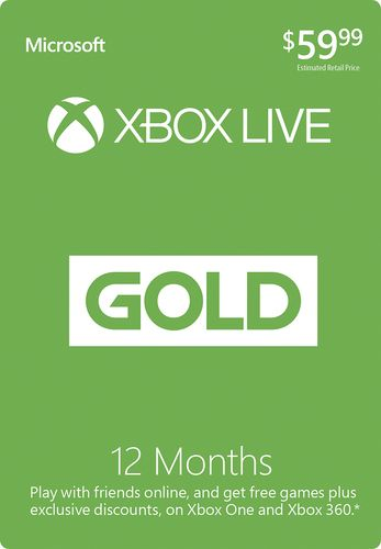 0bce7ff4791 Popular on Best Buy   Microsoft - Xbox Live 12 Month Gold Membership