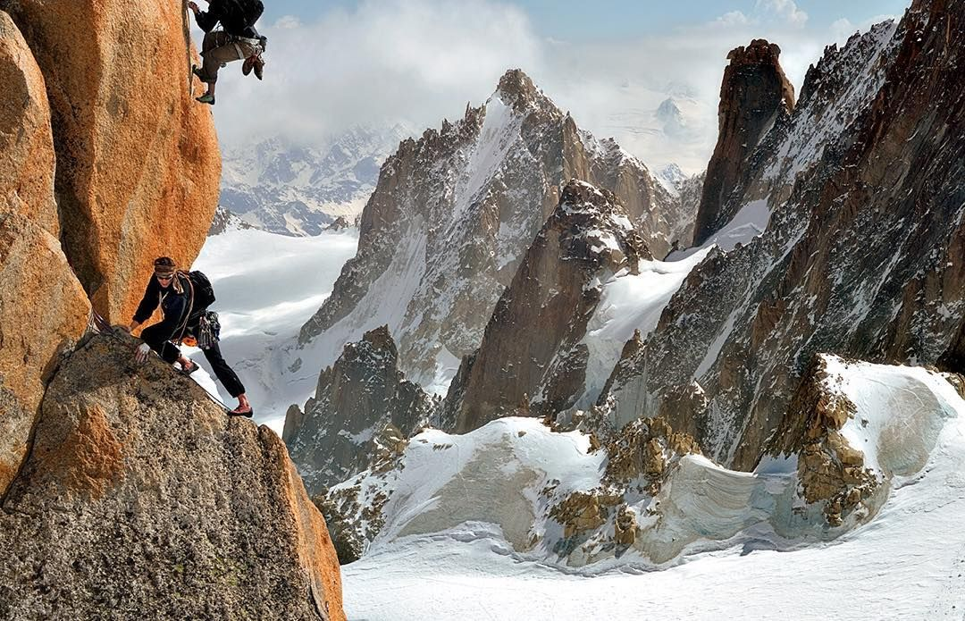 Did you know rock climbing reportedly dates back to 200 BC? : Georg Tappeiner by sandisk